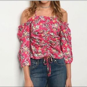 NWT floral of the shoulder blouse